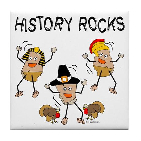 History Rocks Tile Coaster