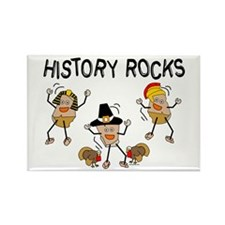 History Rocks Rectangle Magnet
