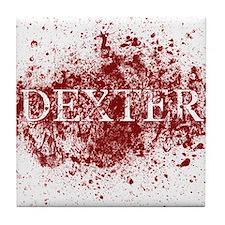 Cute Dexter showtime Tile Coaster