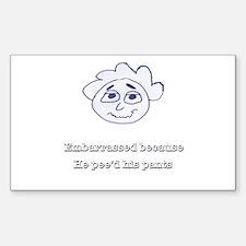 Embarrassed Sticker (Rectangle)