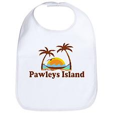 Pawleys Island SC - Sun and Palm Trees Design Bib