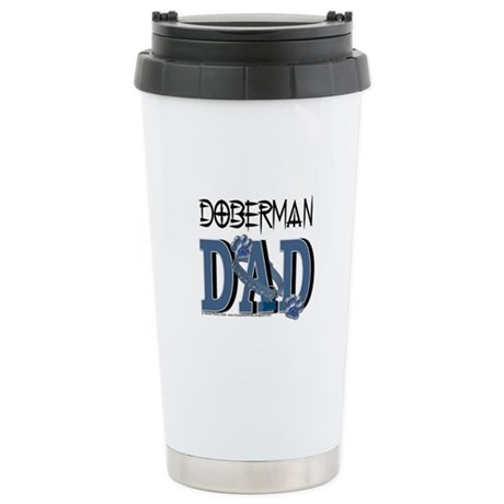 Doberman DAD Stainless Steel Travel Mug