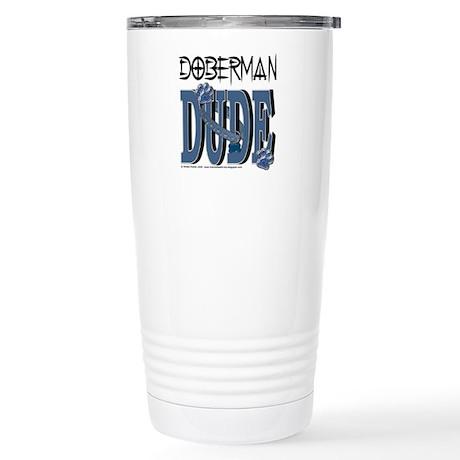 Doberman DUDE Stainless Steel Travel Mug