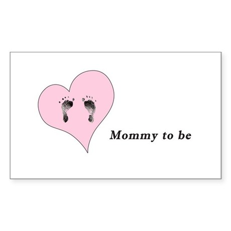Mommy to be Sticker (Rectangle)