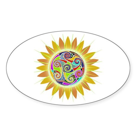 Celtic Tomdala Sticker (Oval)