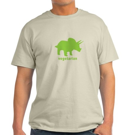 Vegetarian Triceratops - Gree Light T-Shirt