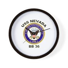 USS Nevada BB 36 Wall Clock