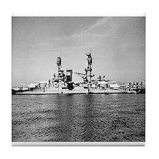 USS Nevada Ship's Image Tile Coaster