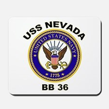 USS Nevada BB 36 Mousepad