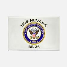 USS Nevada BB 36 Rectangle Magnet