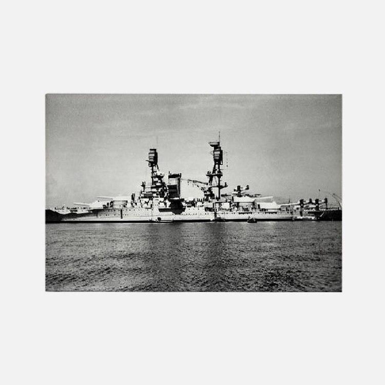 USS Nevada Ship's Image Rectangle Magnet