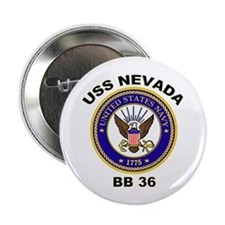 "USS Nevada BB 36 2.25"" Button"