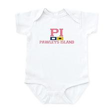 Pawleys Island SC - Nautical Flags Design Infant B