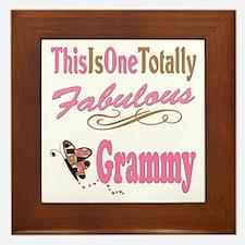 Totally Fabulous Grammy Framed Tile