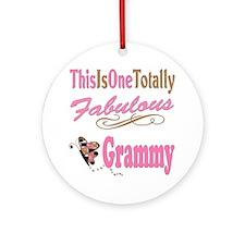 Totally Fabulous Grammy Ornament (Round)