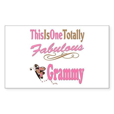 Totally Fabulous Grammy Sticker (Rectangle 10 pk)
