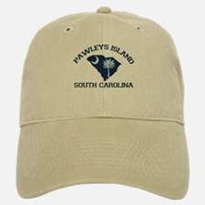 Pawleys Island SC - Map Design Baseball Baseball Cap