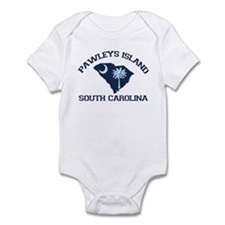 Pawleys Island SC - Map Design Infant Bodysuit