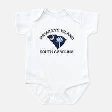 Pawleys Island SC - Map Design Infant Bodysuit