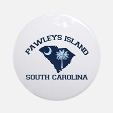 Pawleys Island SC - Map Design Ornament (Round)