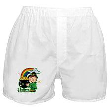 Believe In Leprechauns Boxer Shorts
