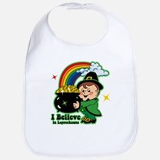 Believe In Leprechauns Bib