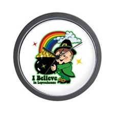 Believe In Leprechauns Wall Clock