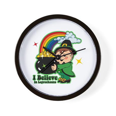 Believe In Leprechauns Wall Clock
