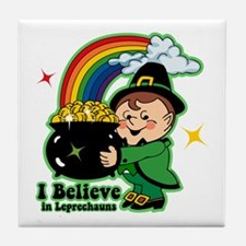 Believe In Leprechauns Tile Coaster