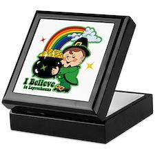 Believe In Leprechauns Keepsake Box