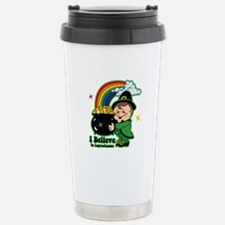 Believe In Leprechauns Stainless Steel Travel Mug