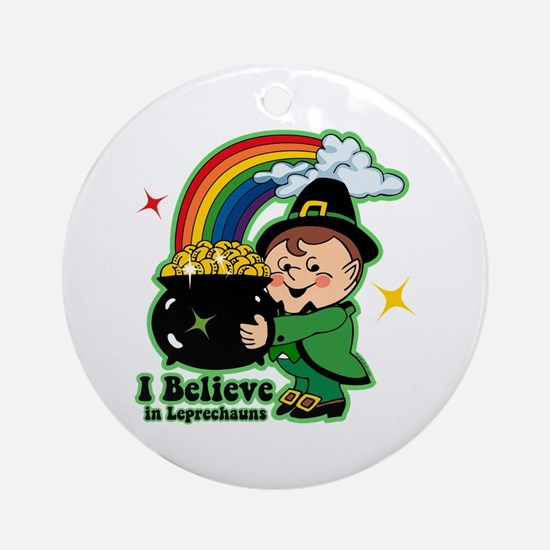 Believe In Leprechauns Ornament (Round)