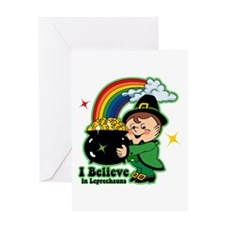 Believe In Leprechauns Greeting Card