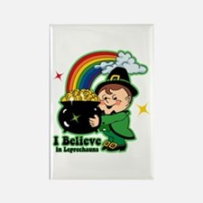 Believe In Leprechauns Rectangle Magnet