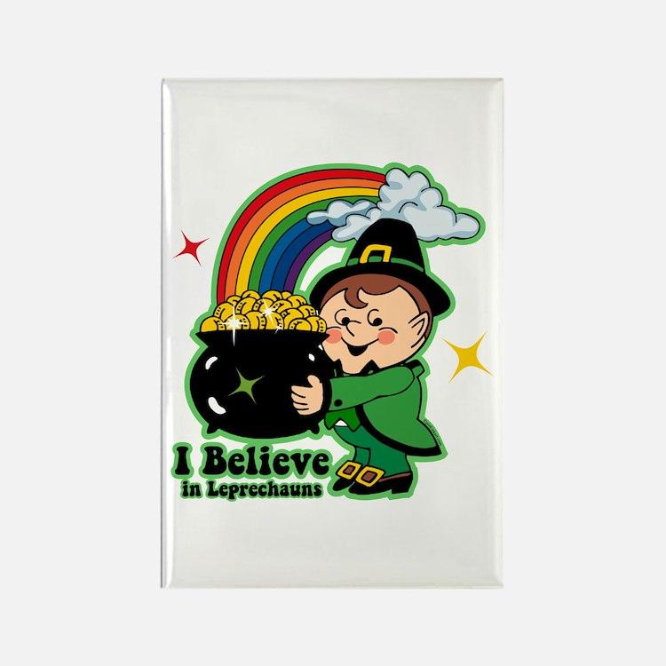Believe In Leprechauns Rectangle Magnet
