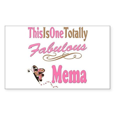 Totally Fabulous Mema Sticker (Rectangle)