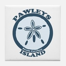 Pawleys Island SC - Beach Design Tile Coaster