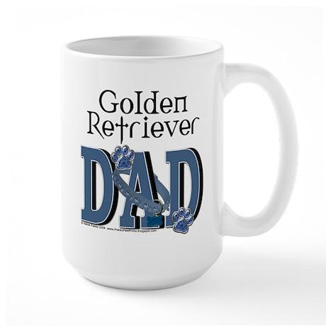 Golden Retriever DAD Large Mug