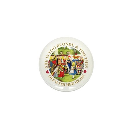 TOO BLONDE & TOO THIN Mini Button (100 pack)