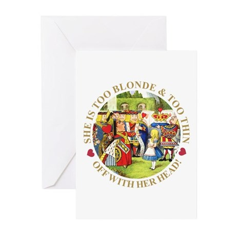 TOO BLONDE & TOO THIN Greeting Cards (Pk of 20)