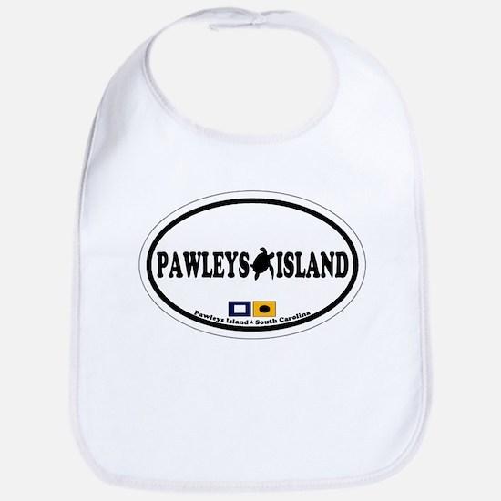 Pawleys Island SC - Oval Design Bib