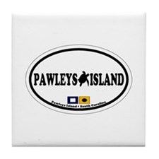 Pawleys Island SC - Oval Design Tile Coaster