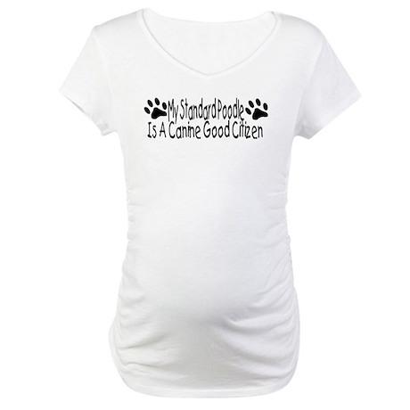 Standard Poodel CGS Maternity T-Shirt