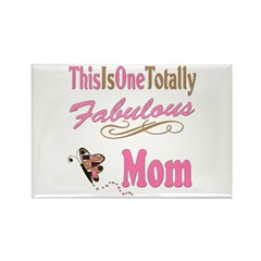 Totally Fabulous Mom Rectangle Magnet (10 pack)