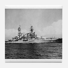 USS Pennsylvania Ship's Image Tile Coaster