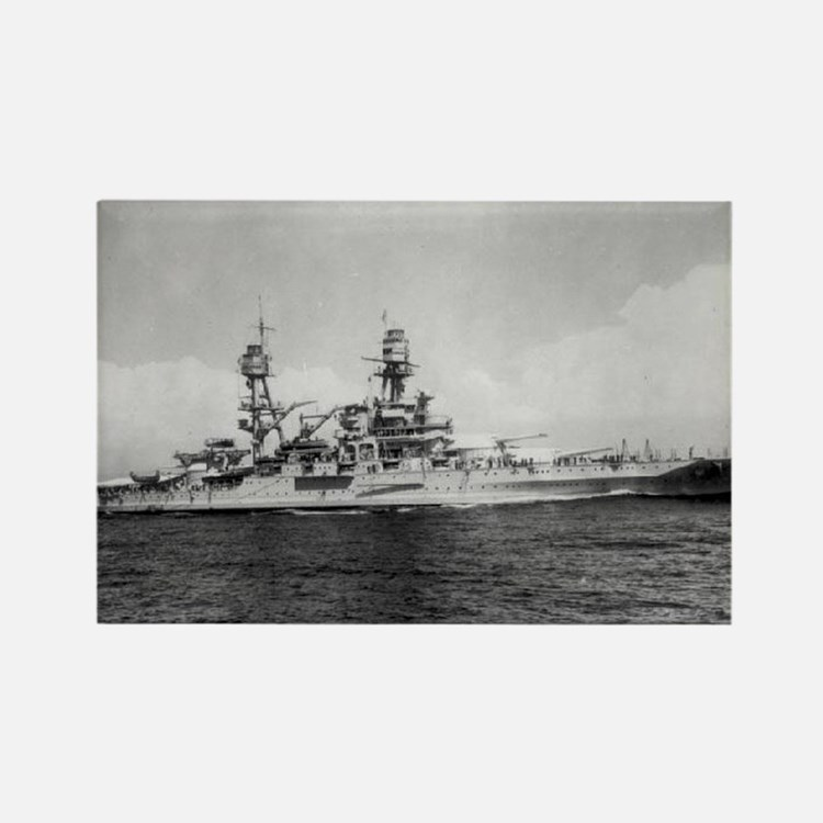 USS Pennsylvania Ship's Image Rectangle Magnet