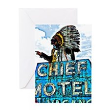 Chief Motel Greeting Card