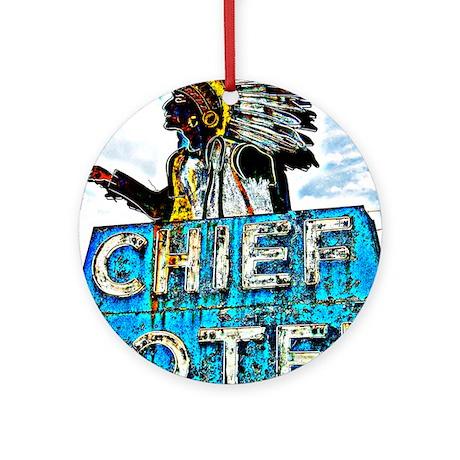 Chief Motel Ornament (Round)