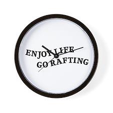Enjoy Life Go Rafting Wall Clock