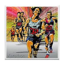 Tile Coaster Marathon track athletic race sports